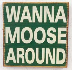 Wanna Moose Around for the kitchen .don't make a moose! Moose Lodge, Moose Hunting, Moose Decor, Moose Art, Bear Decor, Funny Moose, Moose Pictures, Chocolate Moose, Home Signs