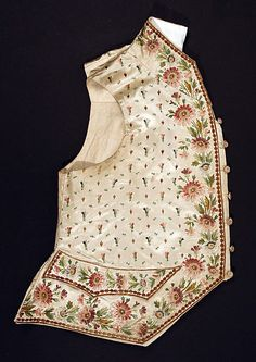 French silk waistcoat 18th century