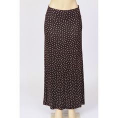 Black and White Polka Dot Maxi Skirt by PassifloraByKylie on Etsy