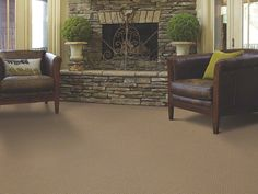 Patterned Carpet In Savannah - EA024 - Field Stone - Flooring by Shaw