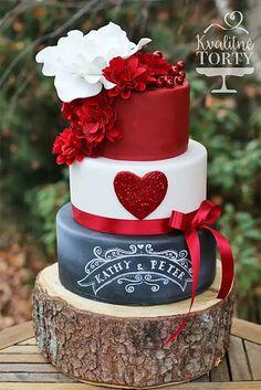 Inspiring Ideas For Black And White Wedding Cakes ❤ See more: http://www.weddingforward.com/black-and-white-wedding-cakes/ #weddings