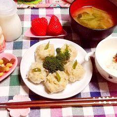 野菜みそ汁 こんにゃく煮豆 豆腐入り椎茸豚シューマイ - 36件のもぐもぐ - 夕飯ヾ(。・ω・。) by lilianhuang