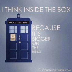 """I'm gonna say """"think INSIDE the box"""" from now on. They will never get it =)"""