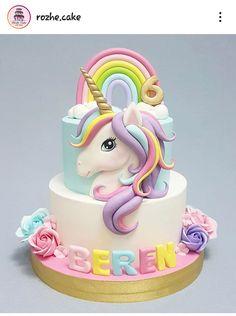 Make Birthday Cake, Unicorn Themed Birthday Party, Beautiful Birthday Cakes, Baby Birthday Cakes, Unicorn Party, Cupcakes, Cupcake Cakes, Bolo My Little Pony, Unicorn Cake Design
