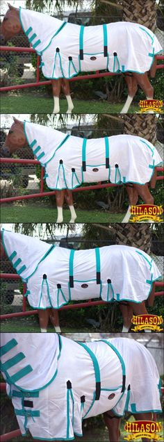 Horse Blankets and Sheets 85275: 81 Hilason Uv Protect Mesh Horse Fly Sheet W Neck Cover And Belly Wrap White -> BUY IT NOW ONLY: $52.95 on eBay!