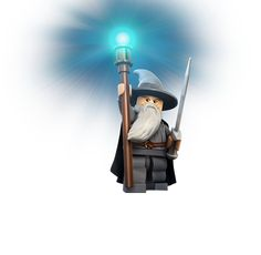 warm and wise Wizard, Gandalf is the leader of the Fellowship of the Ring and dedicated to defeating Sauron. Initially known as Gandalf the Grey, he delights his Hobbit friends with fireworks when he visits The Shire. He returns after an epic duel with a Balrog to become a more powerful Wizard known as Gandalf the White.    In-Game Abilities: Has a magical staff that can lift and build LEGO objects, provide light in dark places and shoot out bolts of energy.