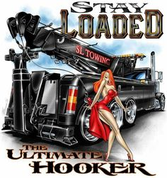 Cartoon Semi Tow Truck With/Jessica Rabbit Big Rig Trucks, Tow Truck, Cool Trucks, Chevy Trucks, Trucker Quotes, Towing Company, Truck Signs, Cool Car Drawings, Truck Art
