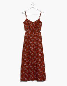Cutout Cami Midi Dress in Warm Paisley : casual dresses | Madewell