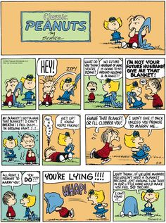 """Charles M. Schulz's classic """"Peanuts"""" looks at the lives of Charlie Brown, Snoopy, and other favorite characters. Snoopy Cartoon, Peanuts Cartoon, Peanuts Gang, Peanuts Comics, Snoopy Comics, Charlie Brown Comics, Charlie Brown And Snoopy, Pulp Fiction Comics, Sally Brown"""