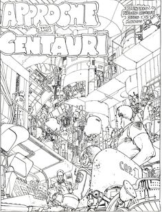 "Moebius - ""Approche sur Centauri"" (Approach Centauri) - First panel In french comics magazine ""Metal Hurlant"" # 1 (Heavy Metal) - First quarter 1975, Les Humanoïdes Associés, Paris"