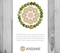 PERIDOT bracelet,August Birthstone,Mala Bracelet,Yoga Jewelry,Wrist Mala,yoga bracelet,Inspirational Jewelry,Gemstone,Beaded…