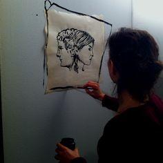 mio profilo destro by Marina Bertagnin Kinds Of People, Reusable Tote Bags, Artists, Artist