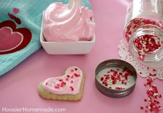 Frosting for Valentine Sugar Cookies