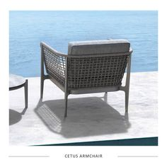 Introducing the Cetus armchair - its unique woven frame, sleek aluminum structure and plush cushions will bring a touch of luxury to your outdoor or indoor spaces. This range is in stock and ready to go!