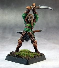 Warlord Miniatures (Elf Swordsman 14649) This Warlord model by Reaper Miniatures comes unpainted and unassembled. Assembly and painting required. Any photos of painted miniatures are for demonstration