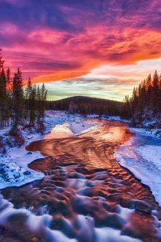 Bragg Creek, Alberta - Chinook Sunset ~ dramatic