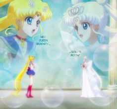 Sailor Moon and Neo Queen Serenity