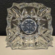 Geslepen kristallen asbak