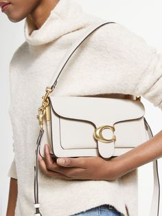 Buy Coach Tabby 26 Leather Shoulder Bag, Chalk from our Handbags, Bags & Purses range at John Lewis & Partners. Coach Purses, Purses And Bags, Lv Bags, Coach Shop, Coach Outfits, Beautiful Handbags, Lv Handbags, Cloth Bags, Pebbled Leather