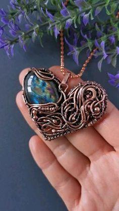 Witch Jewelry, Fantasy Jewelry, Copper Jewelry, Crystal Jewelry, Gemstone Jewelry, Copper Anniversary Gifts, Anniversary Gifts For Wife, Wire Jewelry Patterns, Jewelry Ideas