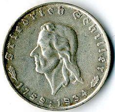 2 Reichmark 1934 F Schiller, J. 358, ss / vz    Dealer  Karl Pfankuch & Co    Auction  Minimum Bid:  40.00EURO