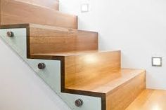 Image result for wooden stairs no nosing