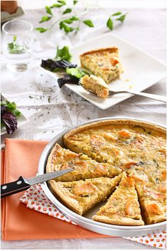 perhaps not this recipe, but I love the idea of adding salmon into a quiche with some vegetables.