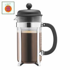 Bodum Kaffeebereiter French Press CAFFETTIERA für 3 Tassen oder 8 Tassen Schwarz