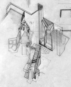 Flores & Prat - Casa Providencia, axonometrica de la escalera