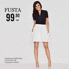 #Fusta cucroi simplu,cu banda in talie,placuta la atingere ce ofera un aspect lejer. #fusta #fashionromania #fustecasual #prettymodaro