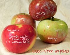 Finding Joy in My Kitchen: Kitchen Tip: Removing Apple Wax!