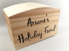 Personalised wooden money box – Make Memento