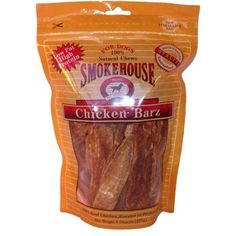 Smokehouse Pet Products Chicken Barz, 8-Oz, Multicolor