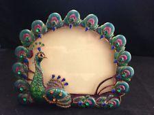 Jeweled Photo Frame, Peacock Design