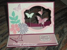 Carolyn's Card Creations: More Suspended Butterfly Easel Cards