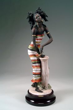 Giuseppe Armani Sounds Of Africa - Ltd.number 31 Of 750 African American Figurines, African American Art, African Dolls, Indian Dolls, Black Figurines, African Furniture, Mannequin Art, African Crafts, African Paintings