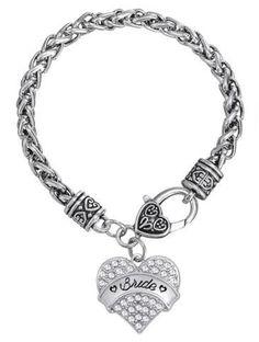 Vintage Silver Rhinestone Bracelet for BRIDE
