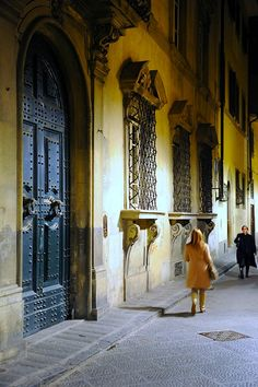 Strolling in Florence.