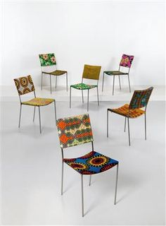 "A set of six ""Kodu"" chairs, Franz West *,"
