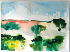 Ana Sério Da Vida das Dunas #2, 2015, 70x96cm #Artist #AnaSério #Colorful #Paintings #Oil on #Paper at #SaoMamede #Art #Gallery in #Algarve #Portugal
