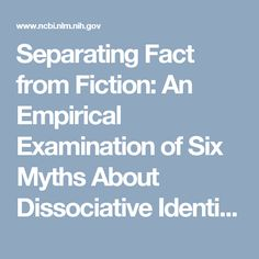 Separating Fact from Fiction: An Empirical Examination of Six Myths About Dissociative Identity Disorder