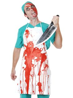 Perfect A Blood Splattered Halloween Apron That Also Has Bloody Dripping Down All  Over It To Hang