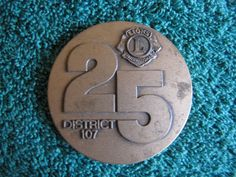 Finland Medal Lions International SUOMI 1975 25 DISTRICT 107 Bird Circulated