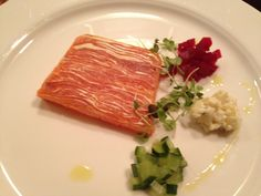 Salmon terrine at Wild Honey Inn, Lisdoonvarna Co. Clare (with Burren Smokehouse salmon). I have bought Burren Smokehouse salmon for years. Salmon Terrine, Wild Honey, Smokehouse, Irish Recipes, Ireland, Good Food, Passion, Meals, Cooking