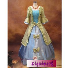 Best Creative Adult Colonial Clothing Dresses Gowns Costumes Halloween Masquerade SKU-304003