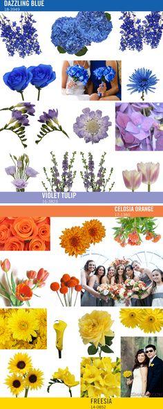 Pantone's Spring 2014 Color trends work for Fall Wedding Flowers!  http://blog.fiftyflowers.com/pantone-color-trends-perfect-for-wedding-flowers/