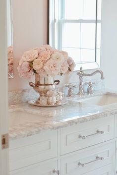 Little Girl Bathrooms, Bathroom Kids, Kids Bath, Kohler Bathroom, Bathroom Fixtures, Bathroom Inspiration, Home Decor Inspiration, Feminine Bathroom, Small Elegant Bathroom