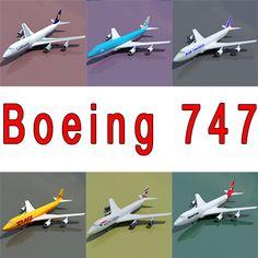 3D Boeing 747 6 Model - 3D Model