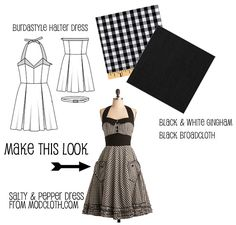 Make This Look: Salty & Pepper Dress | The Sew Weekly - Sewing & Vintage Lifestyle