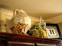 Cabinet Top decor. Plants, small frames, pots,candles, tea pots, etc.